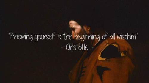 aristotle know yourself